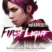 Infamous: First Light Soundtrack. Передняя обложка. Click to zoom.
